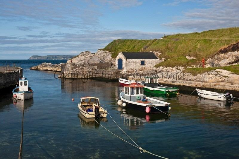 Ballintoy harbour has big views and a pocket-sized tearoom.  A must-see for Thrones fans.
