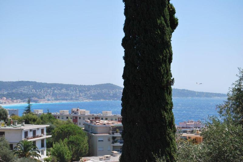 View from the terrace on the bay and Cap Ferrat / Vue sur la baie de Nice et le Cap Ferrat