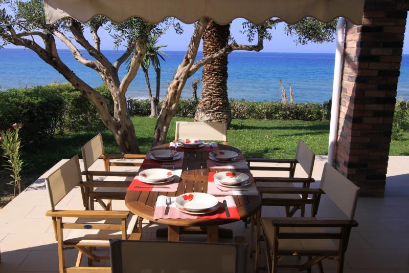 Corfu Glyfada Beachfront  50, vacation rental in Vatos