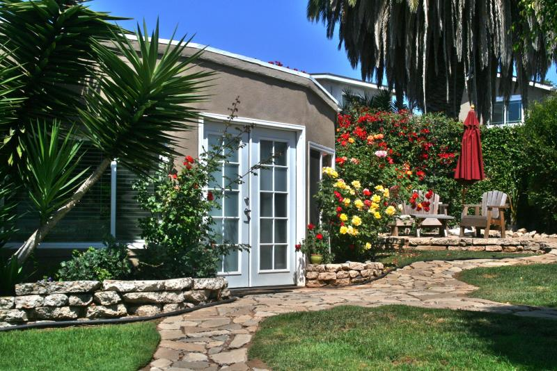 Welcome to the Mission Bay Cottage.  It is nestled in a beautiful garden setting.