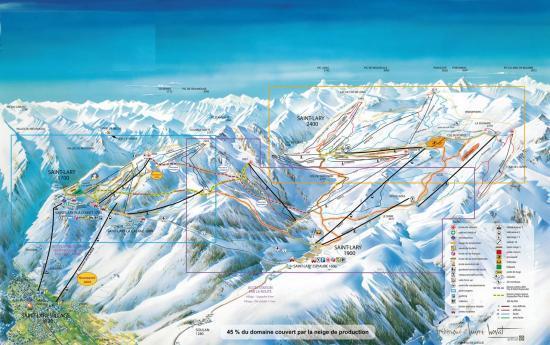 pistes ski St Lary