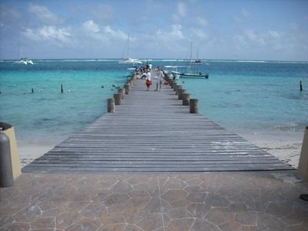 Fishing/Snorkeling pier next to town square.