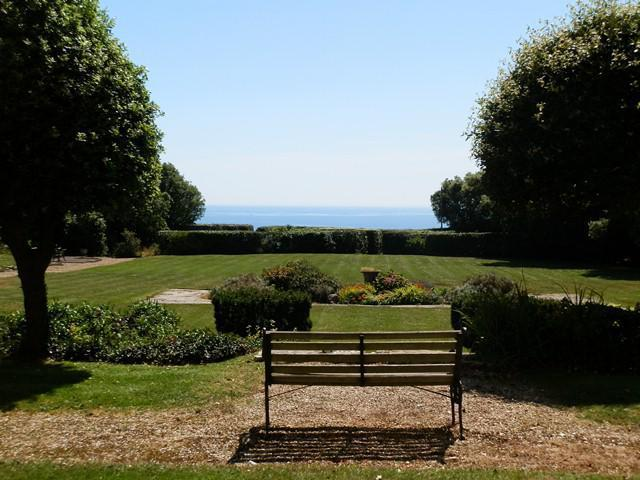 Private/communal gardens with seaviews & BBQ area of our property that guests can use.