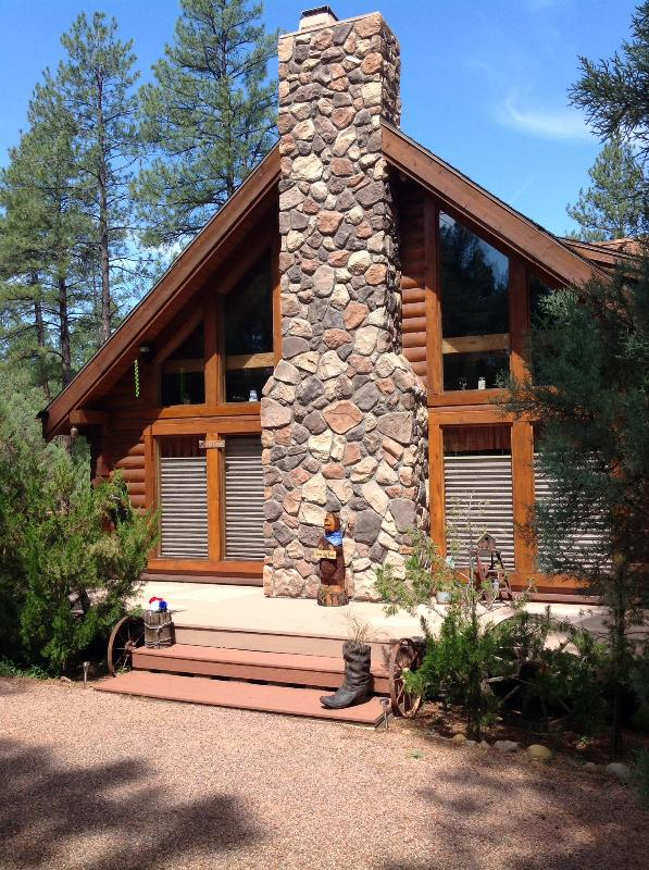View from front of cabin