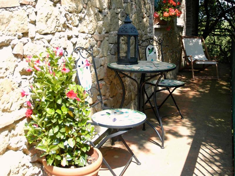 Private terrasse of the appartment Leccio for a morning coffee or a glass of wine in the  evening