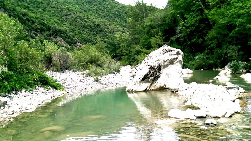 At the end of the residental road (3 km) begins a nature reserve which invites to walk, bike or swim