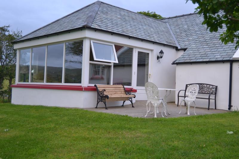 Elevation facing Stragill Beach with External Patio Area & BBQ