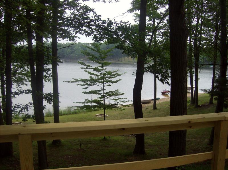 From deck to lake