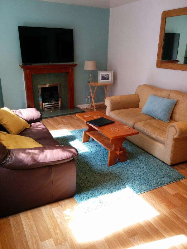 Lounge with 50in TV and gas fire