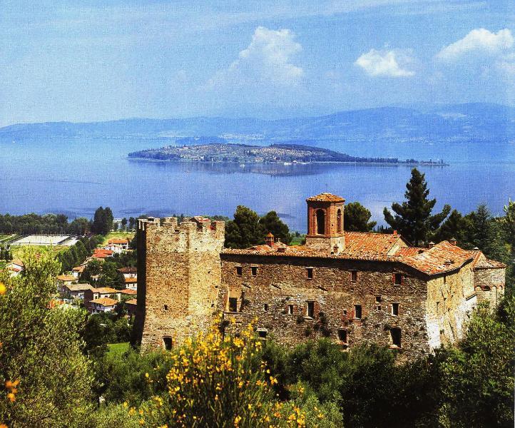 The Abbey and Trasimeno Lake