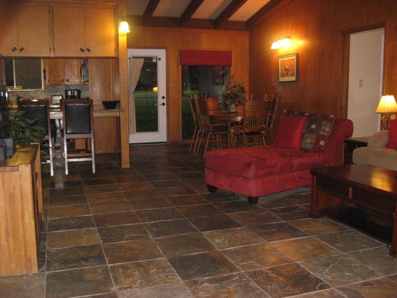 Open living/dining/kitchen area is great for entertaining family and friends.