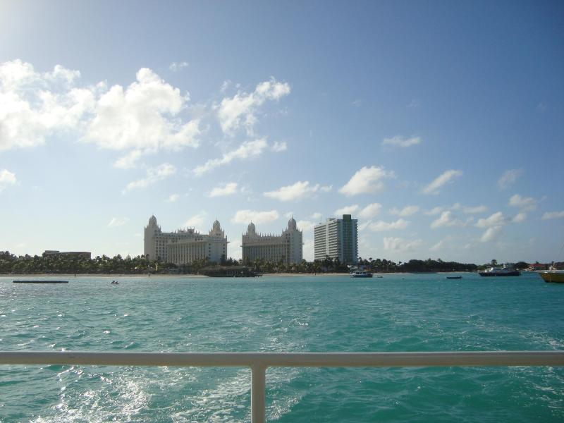 A view of hotels from a boat
