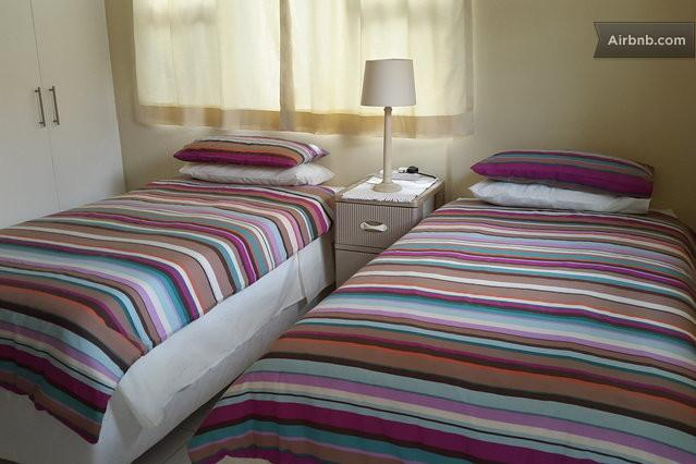 Two single beds or a double bed can be arranged