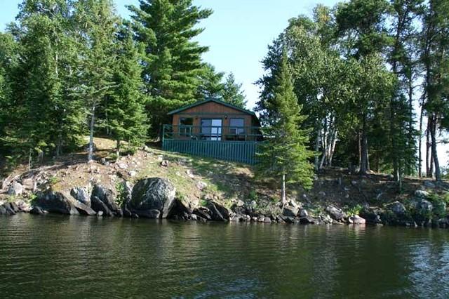 Lake view cabins