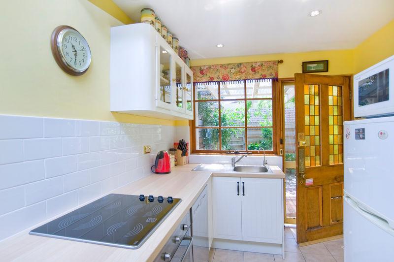 New kitchen with modern appliances