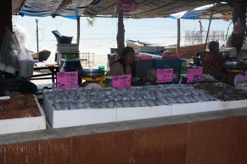 seafood market at Laem Mae Phim