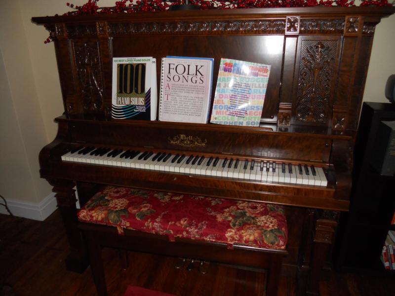 magnificent mahogany antique piano