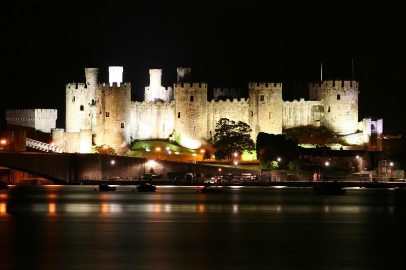 Conwy Castle is lit up every night and makes a wonderful spectacle across the water.