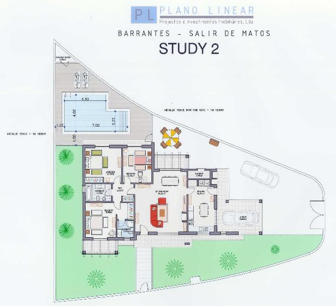 Plan view of the villa