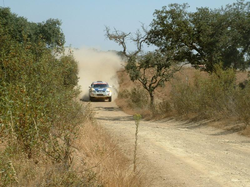 What a spectacle as the Portugal rally passes near by