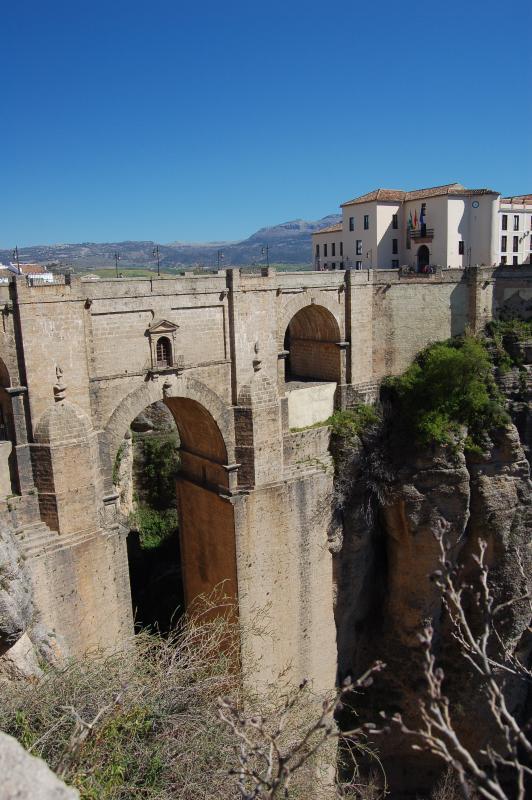 Tajo de Ronda. The famous bridge in Ronda