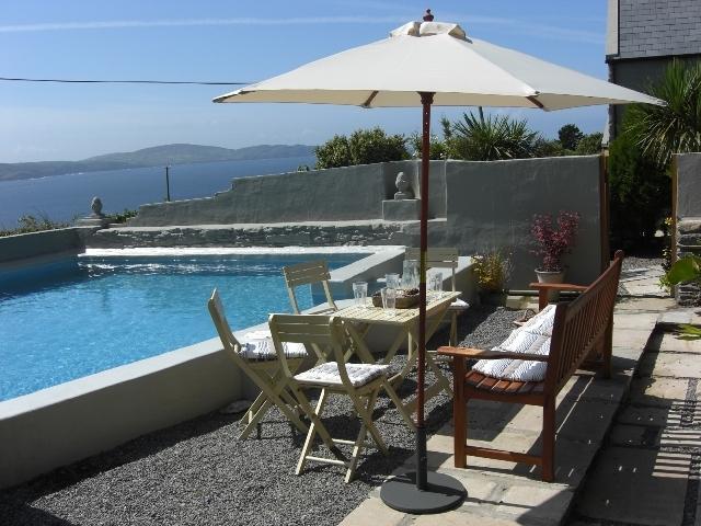 Studio pool-side patio