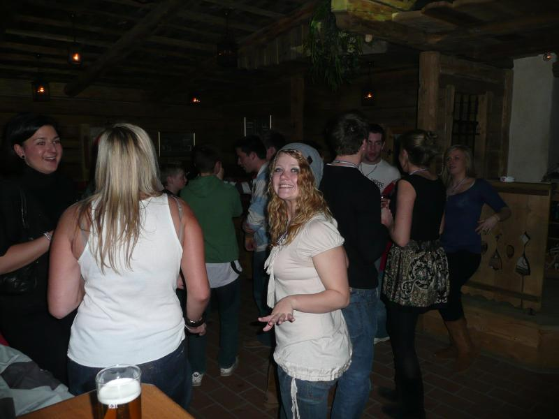 Dancing in the 'Ken-i-Di' ,a traditional bar on the way home