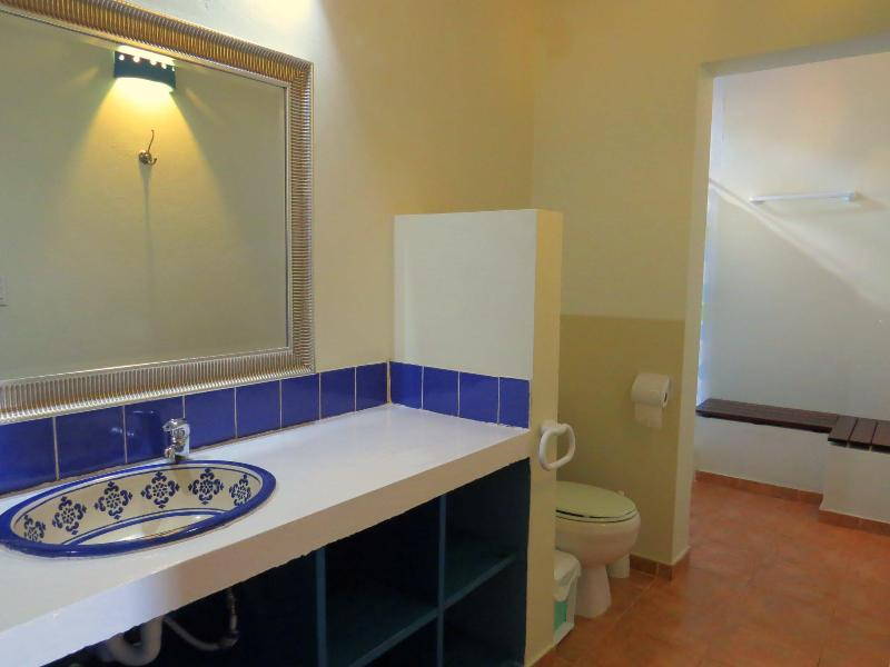 The master bathrooms are spacious and attractive.
