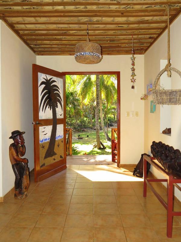 The entryway to Villa Punta Coral, with ocean view.