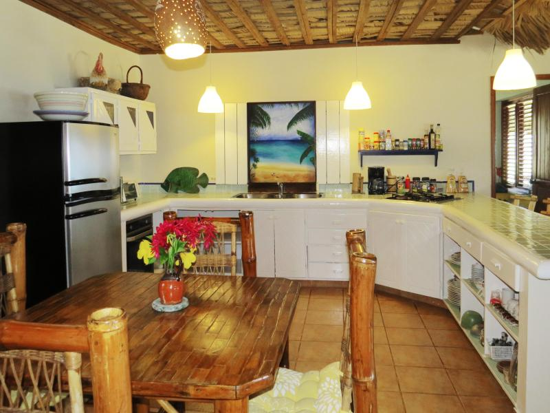 The well-stocked kitchen at Villa Punta Coral is large enough to accommodate multiple chefs.