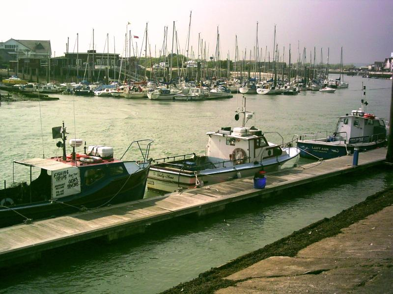 Walk or drive to Littlehampton harbour