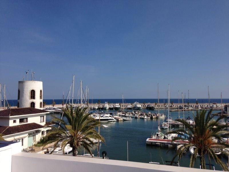 Magnificent marina and sea views from upper terrace