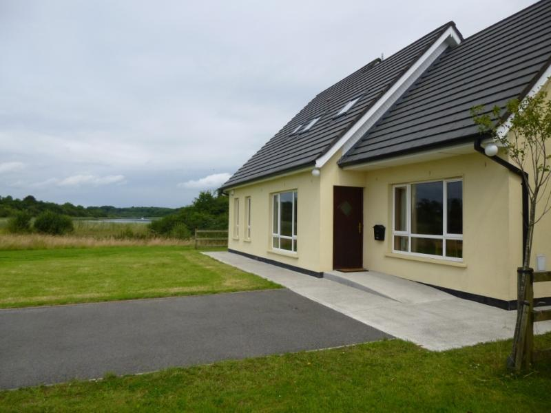 Front view of house overlooking Upper Lough Erne wetlands