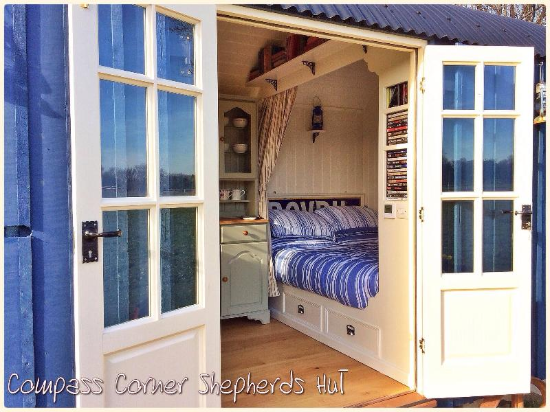 Compass Corner Shepherds Hut - The Sleeping Quarters from outside