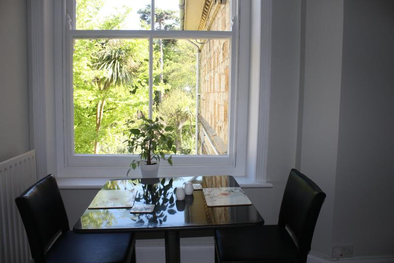 Dining with views of the park