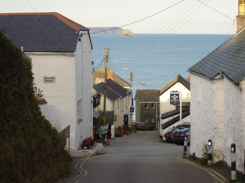 The view entering Portscatho village