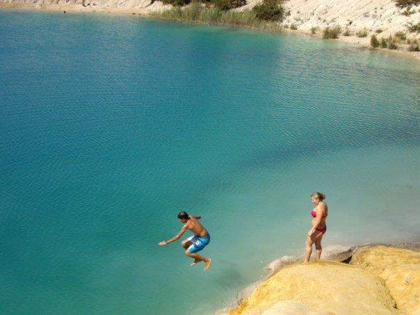 The Blue lakes at Touverac