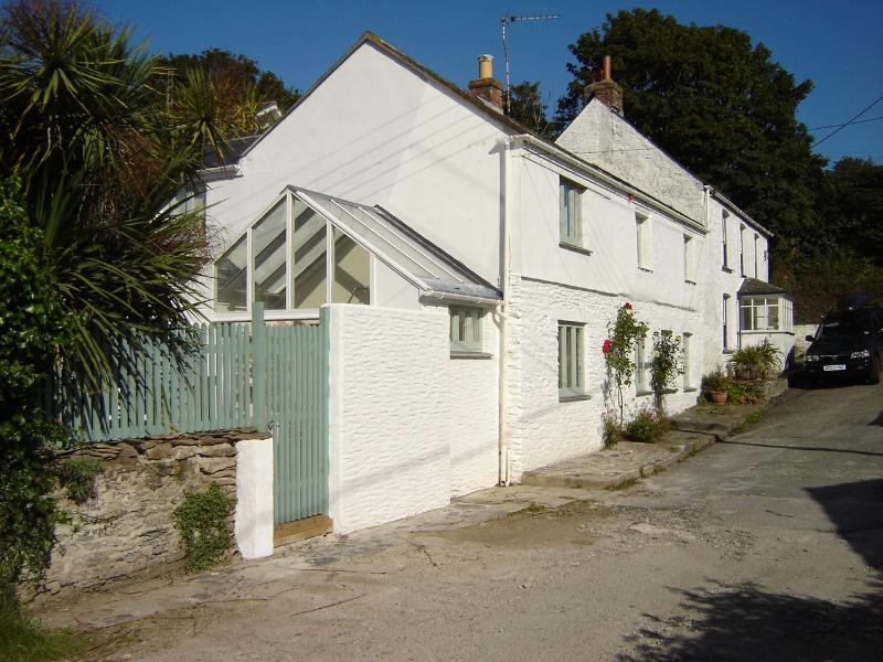 Exterior - the private road has 2 parking spaces assigned to Roses Cottage