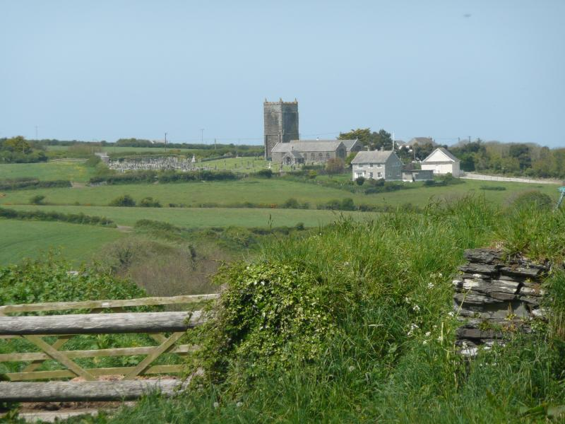 St Merryn Church - view from Riding Stables