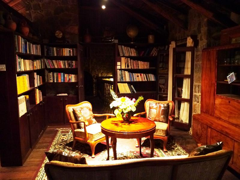 The Library within the Master Suite located conveniently above the dining room