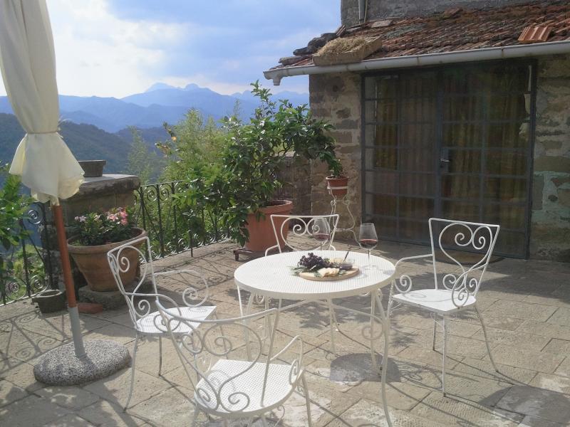 The Olive Terrace, Bagni di Lucca, holiday rental in Bagni di Lucca