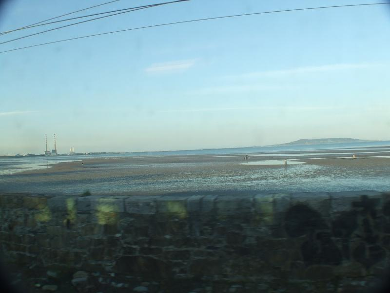 Tide out on Sandymount Strand just a short bus ride from town, birdwatchers' delight .