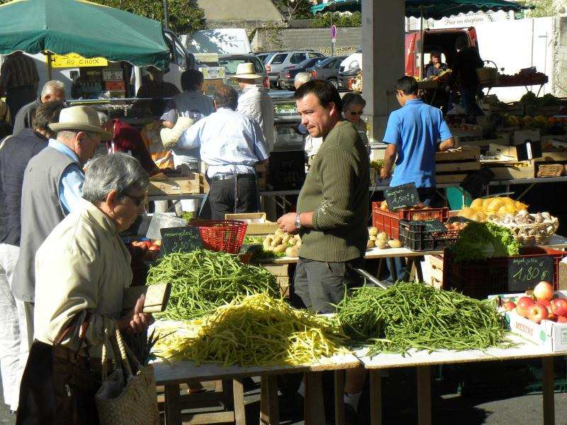 There is always plenty of choice at our local market - Noyant every Friday