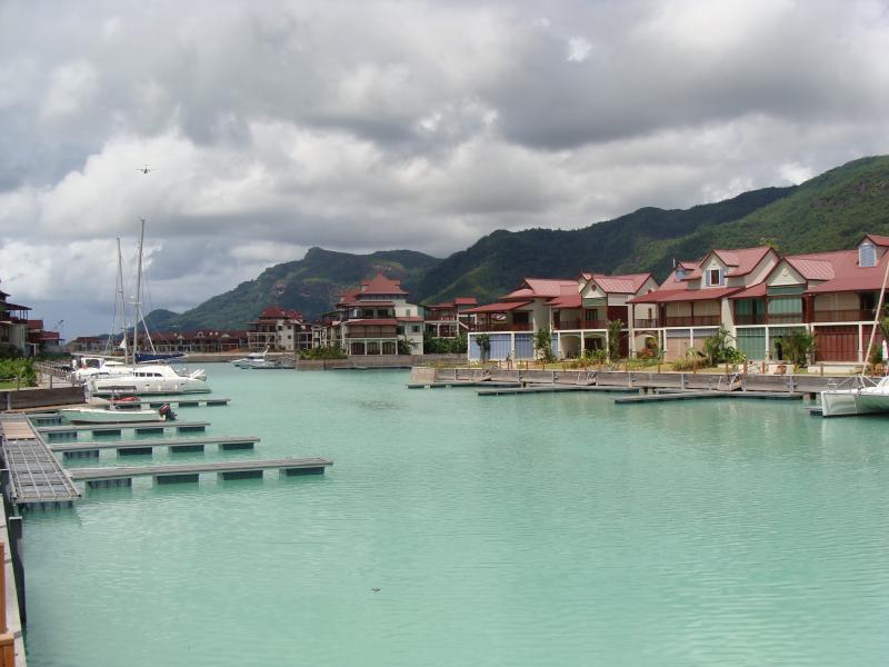the Eden island marina