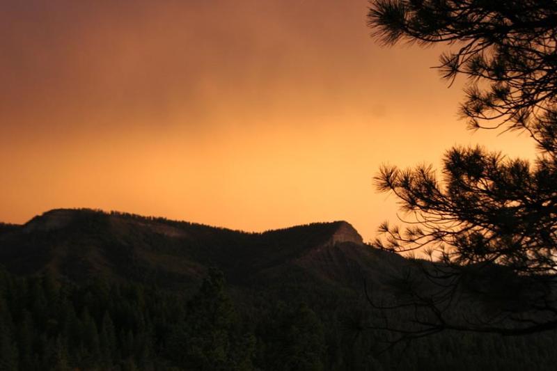 Vista al tramonto dal ponte anteriore