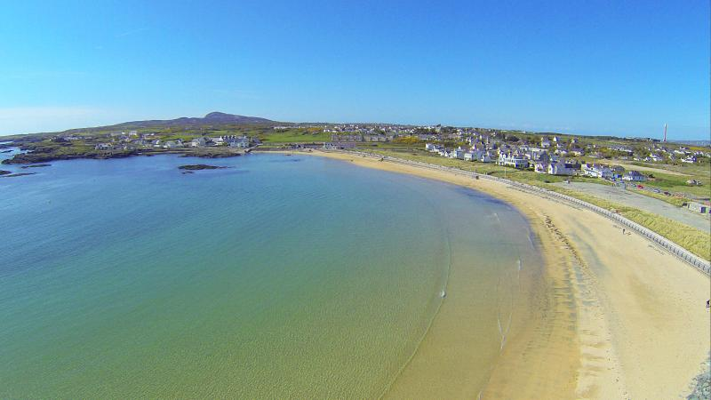 Trearddur Bays Beach, so close to the house its only 331 (Stephens) paces from Trearddur Sands.