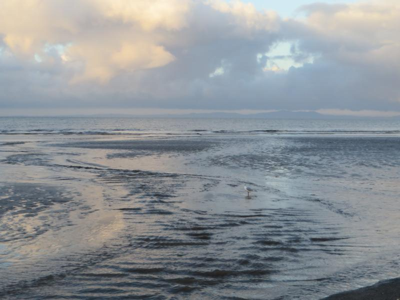 lovely view on the edge of the sea Allonby