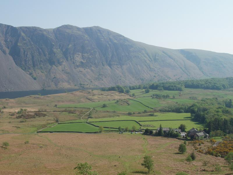 The Wasdale Screes with Greendale in the foreground