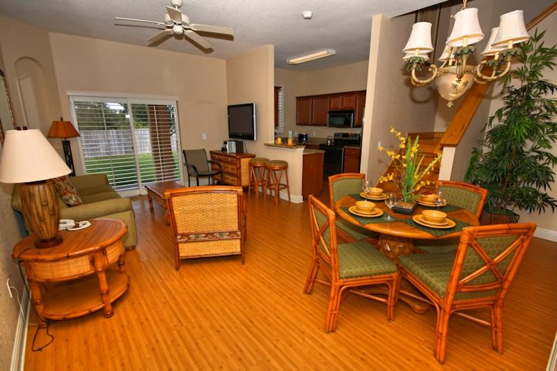 Quinn Villa - Interior Downstairs, beautifully decorated with Wooden flooring.