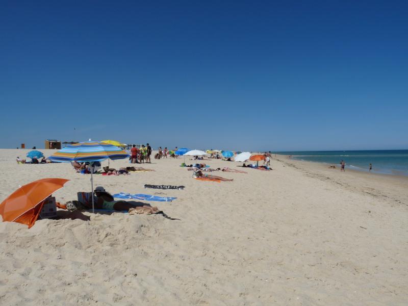 Tomando el sol en la playa de Ilha D'Armona